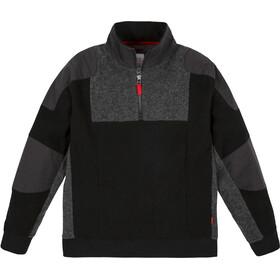 Topo Designs Global Suéter 1/4 Cremallera Hombre, negro/gris